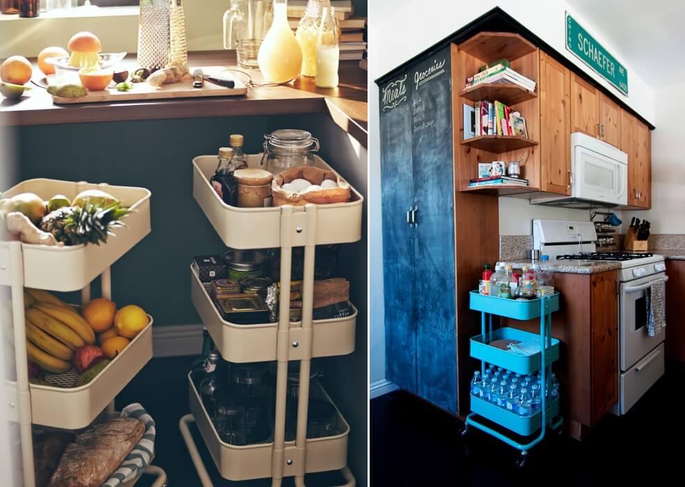10 enkle DIY-er for å organisere kjøkkenet ditt