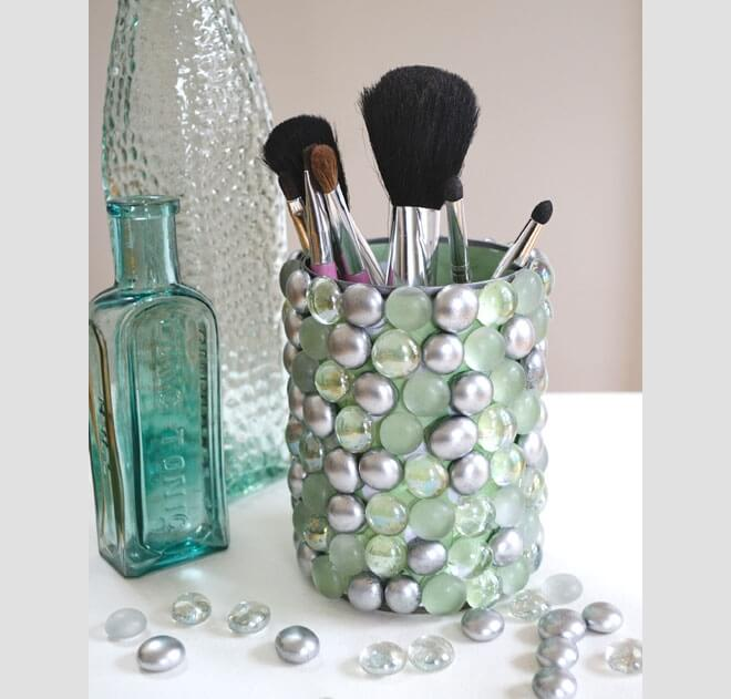DIY Makeup Børsteholdere