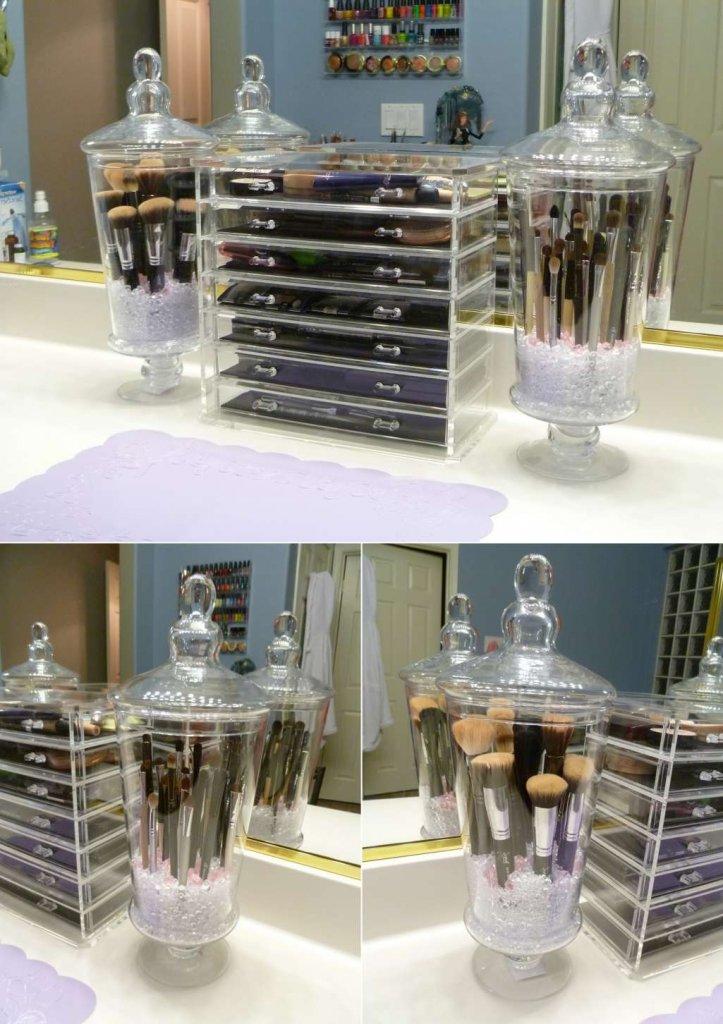 DIY Makeup Brush Holders