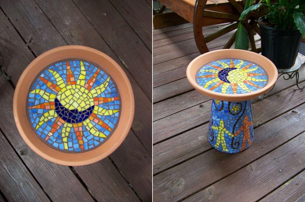 DIY Mosaic Garden Decor