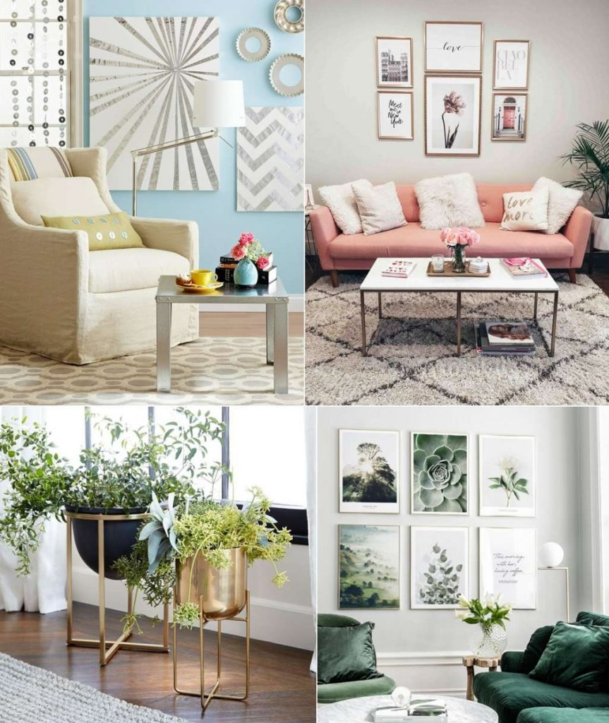 Metallic Decor Ideas for Living Room