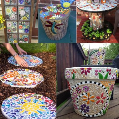 DIY Mosaic Garden Decor