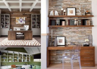 Home Office Accent Wall Ideas