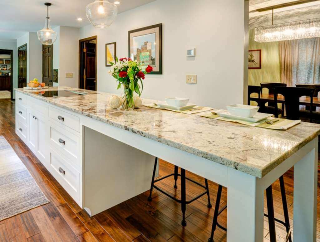 Long Kitchen Island