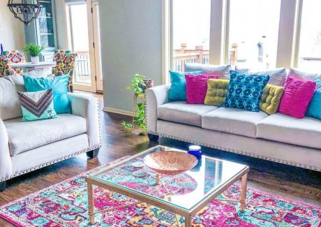 Ideas to Style Colorful Rugs
