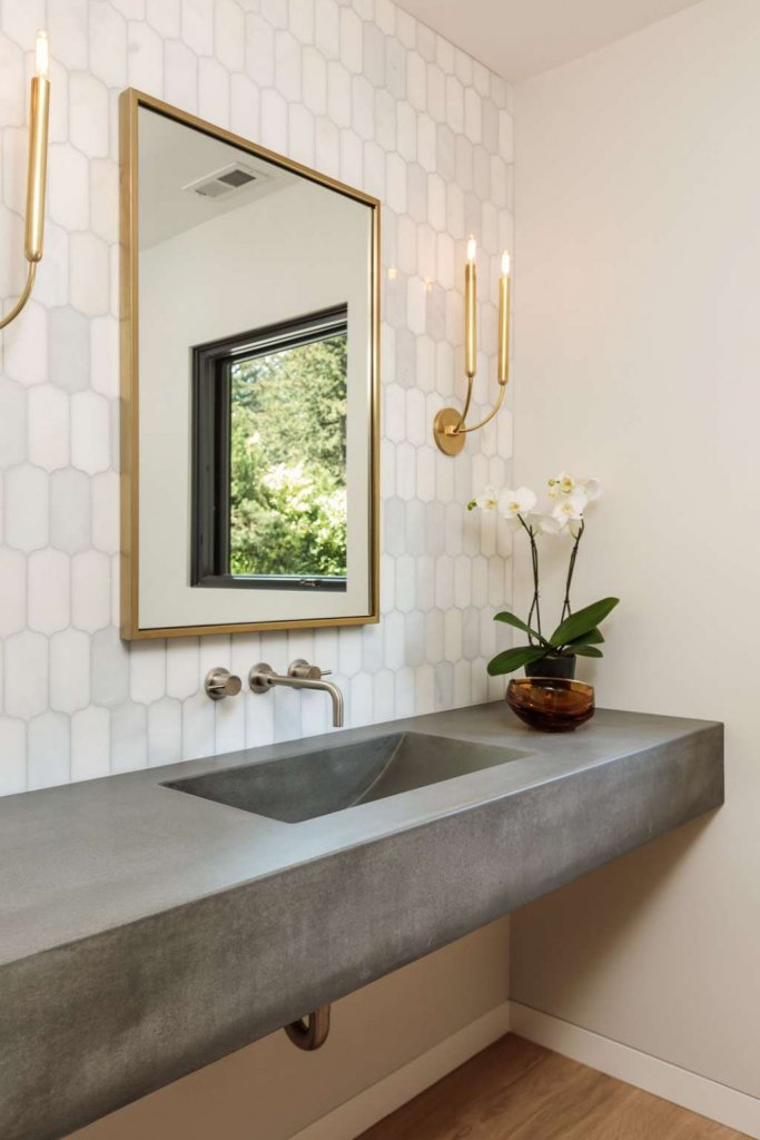 How To Style A Bathroom With a Concrete Sink