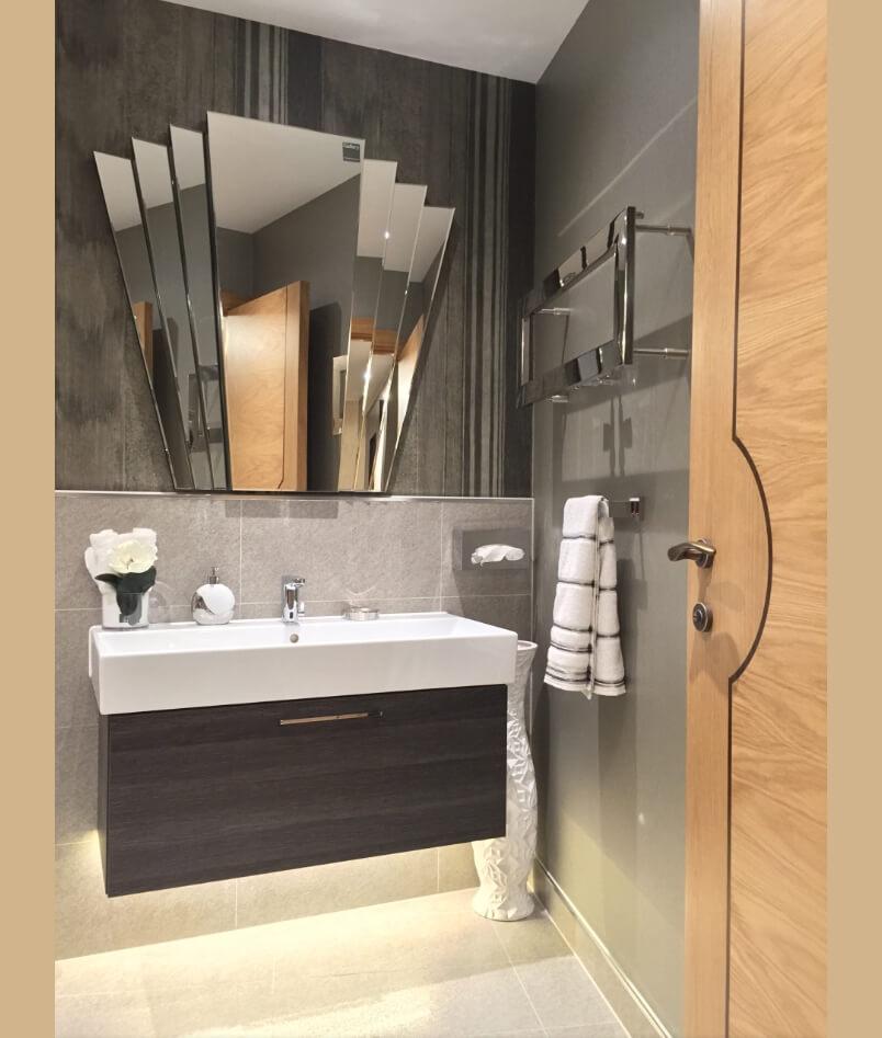 statement bathroom mirrors