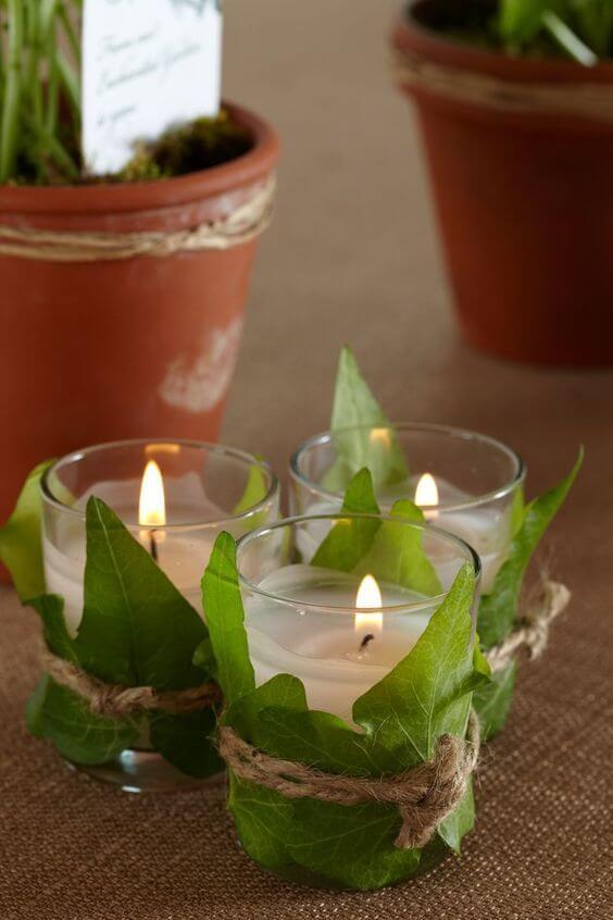 Fresh Leaves Centrepiece Ideas