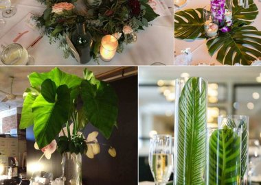 Fresh Leaves Centrepiece Ideas
