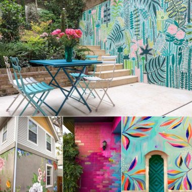 DIY Outdoor Wall Mural Ideas