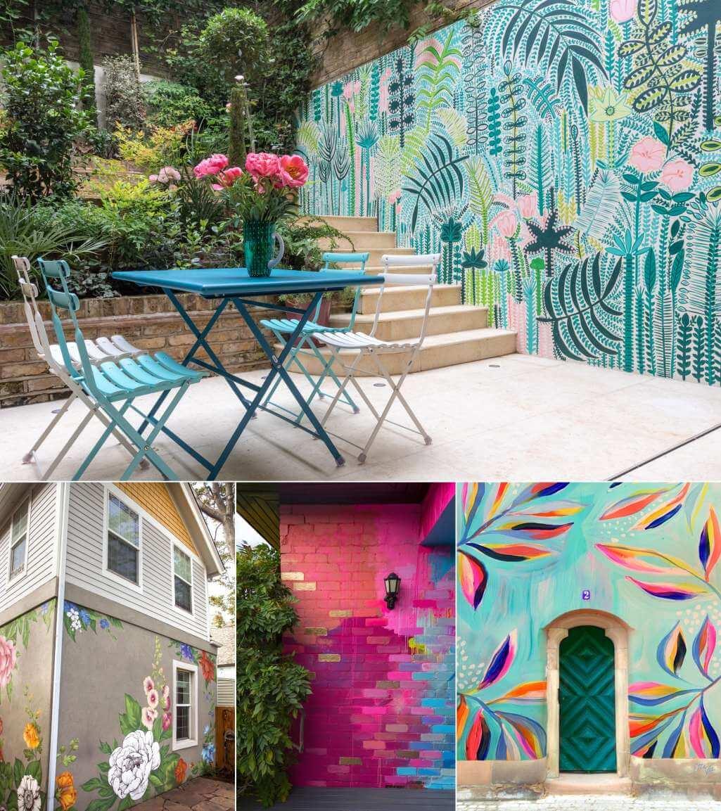 DIY Outdoor Wall Mural Ideas