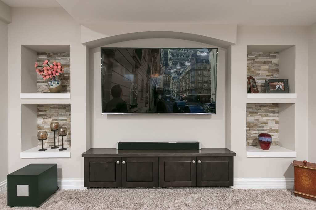 Basement Home Theatre TV Wall Ideas