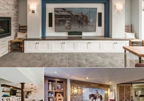 basement tv wall