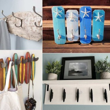 DIY Coastal Coat Rack Ideas
