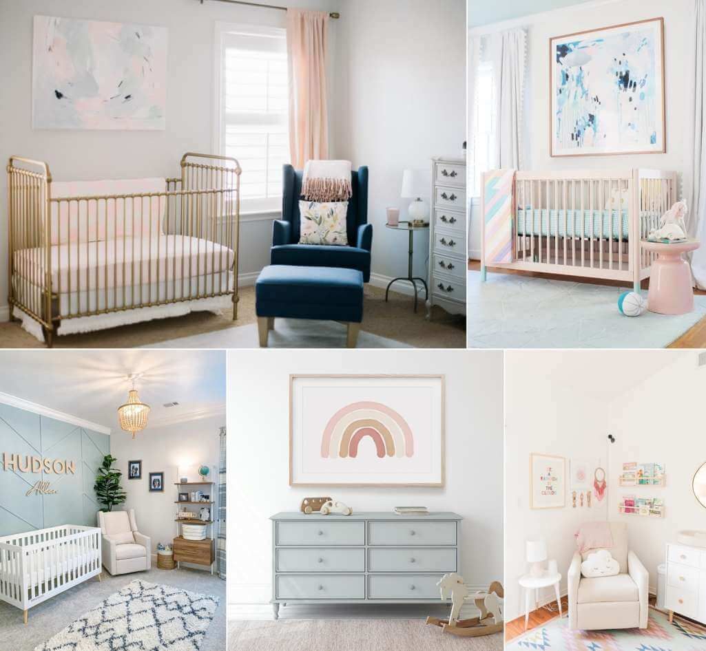 Pastel nursery decor