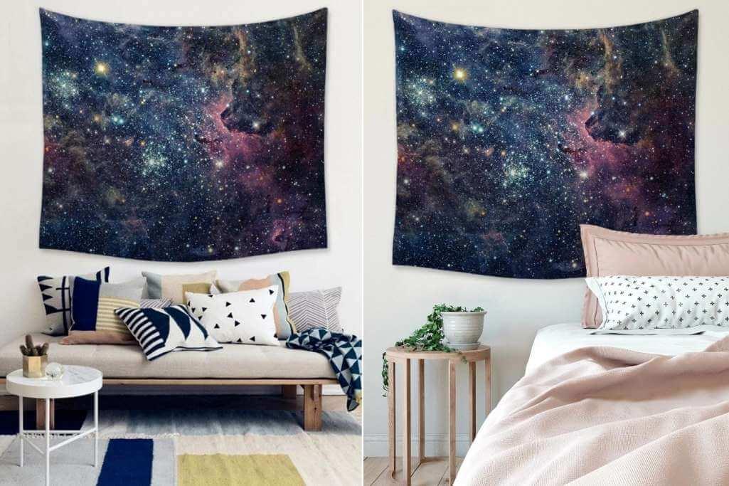 galaxy inspired home decor ideas