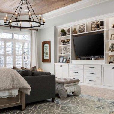 bedroom tv wall design