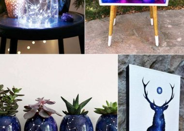 galaxy inspired home decor ideas
