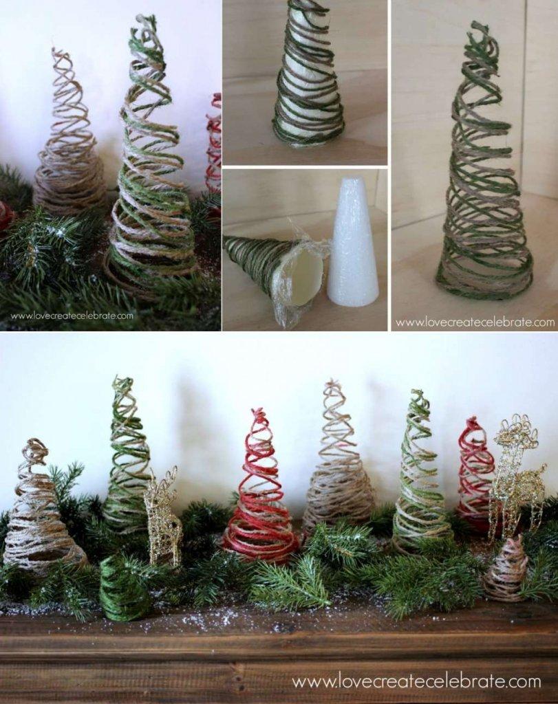 DIY Twine Christmas Decorations