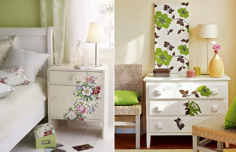 Furniture Makeover Ideas with Paper