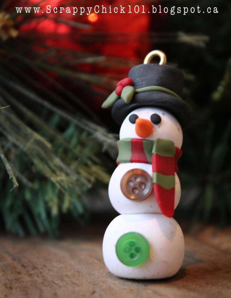 DIY Polymer Clay Christmas Ornaments