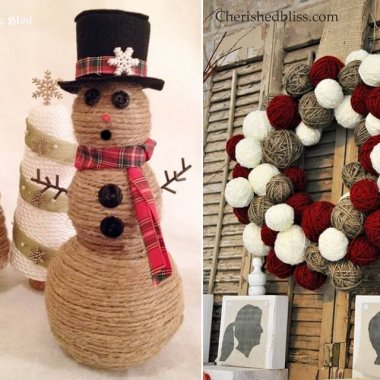 twine christmas crafts