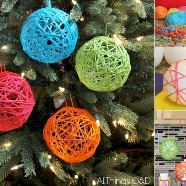 yarn christmas crafts