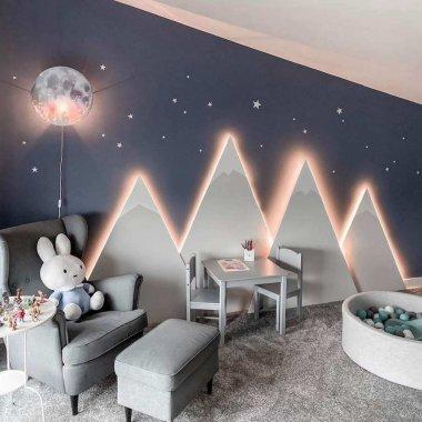 mountain themed kids room decor