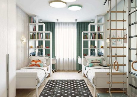 shared kids room storage ideas