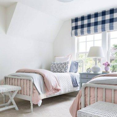 gingham bedroom decor