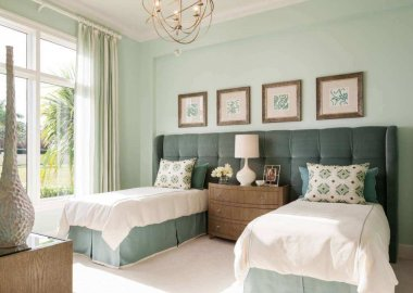 Shared Headboard Ideas for Two Beds