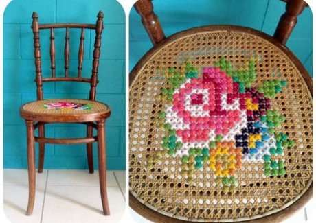 cross stitch inspired projects