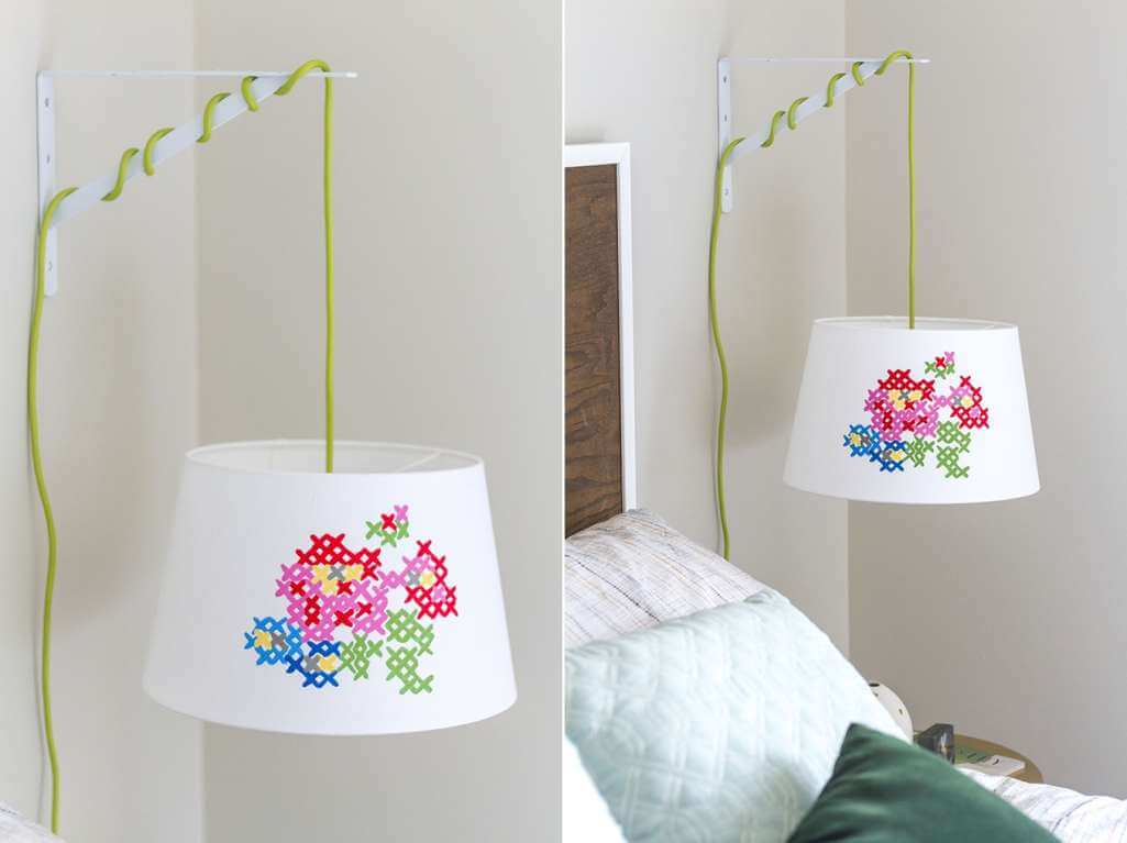 DIY Cross Stitch Inspired Home Decor Projects