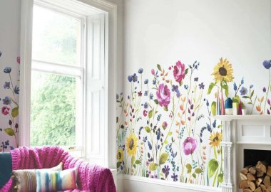 living room wall makeover