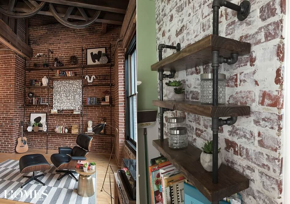 Ways to Style a Living Room with a Brick Wall