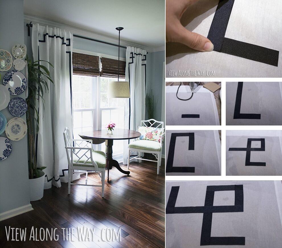 White Curtain Makeover Ideas