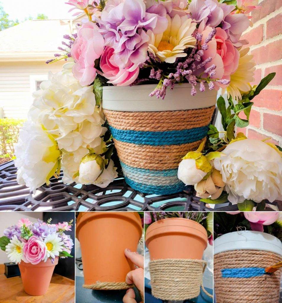 DIY planter decor