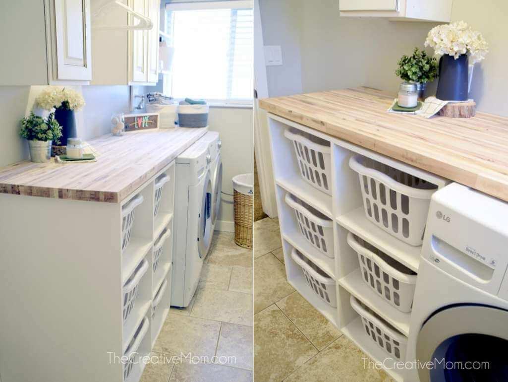DIY Laundry Storage Ideas