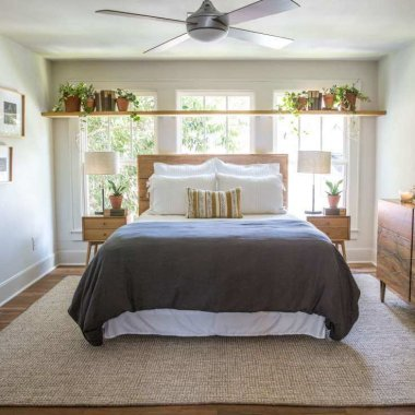 Ideas to Decorate a Bedroom with Bed Against The Window
