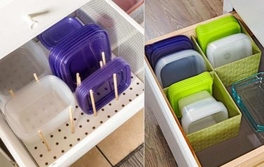 Tupperware Lid Organization Ideas