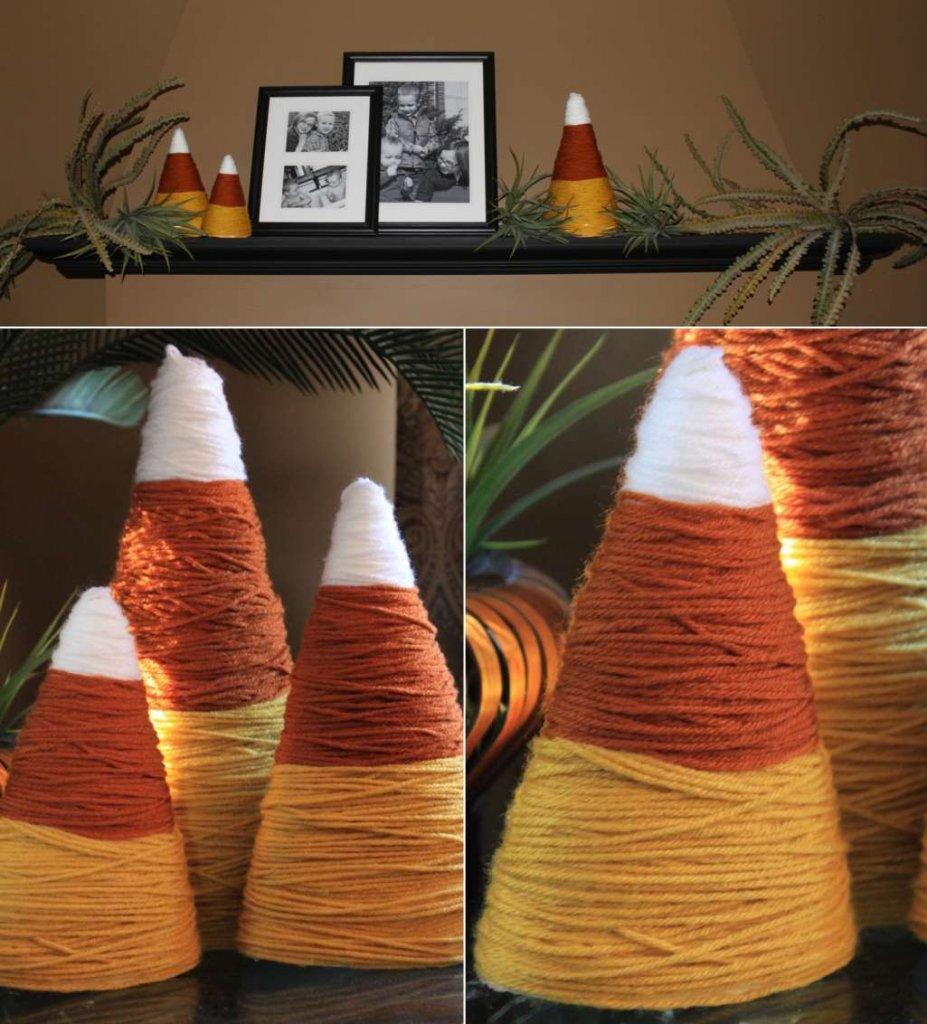 Foam Cone Fall Decor Projects