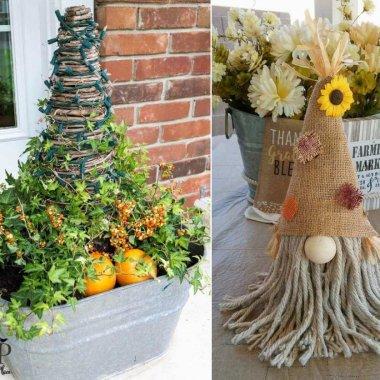 foam cone fall crafts