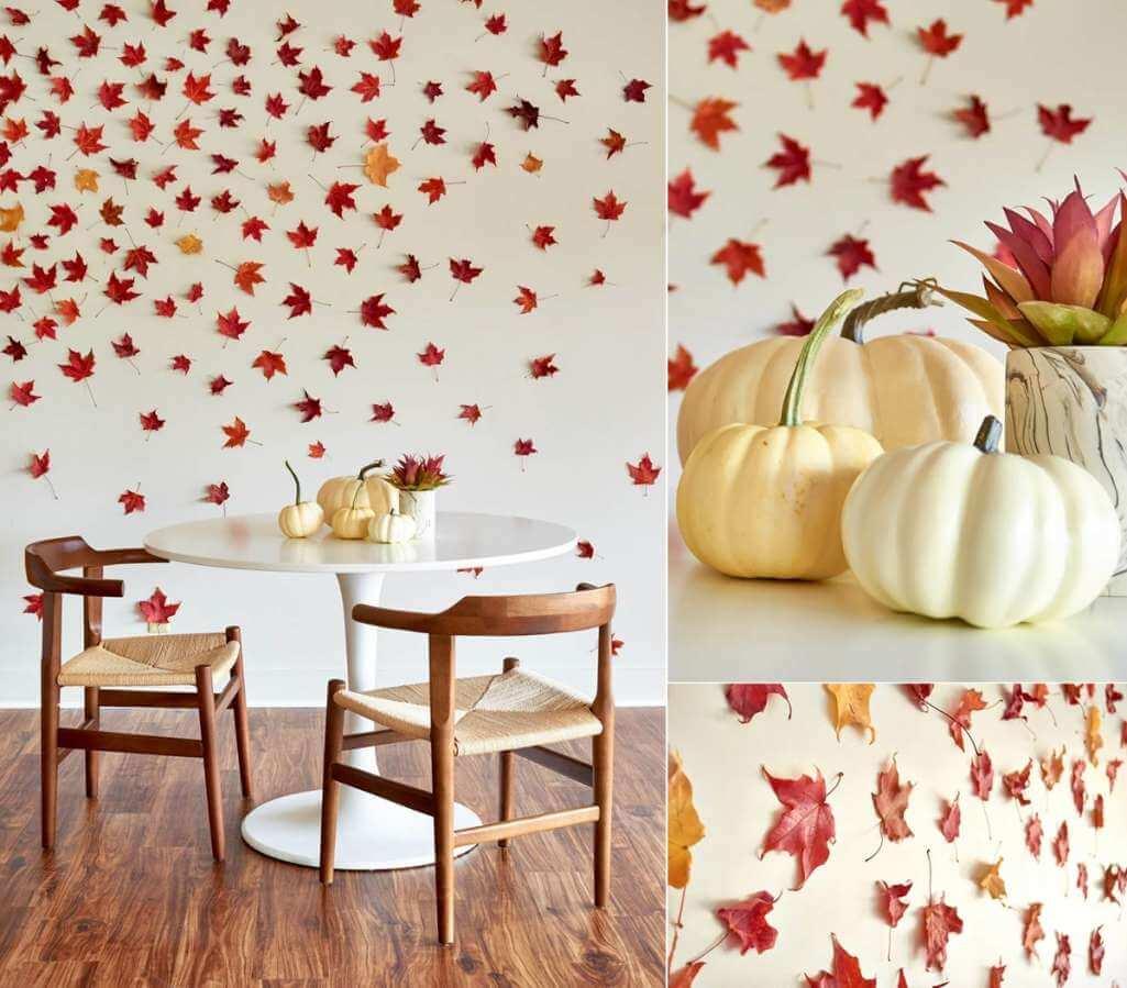 diy fall leaf decor