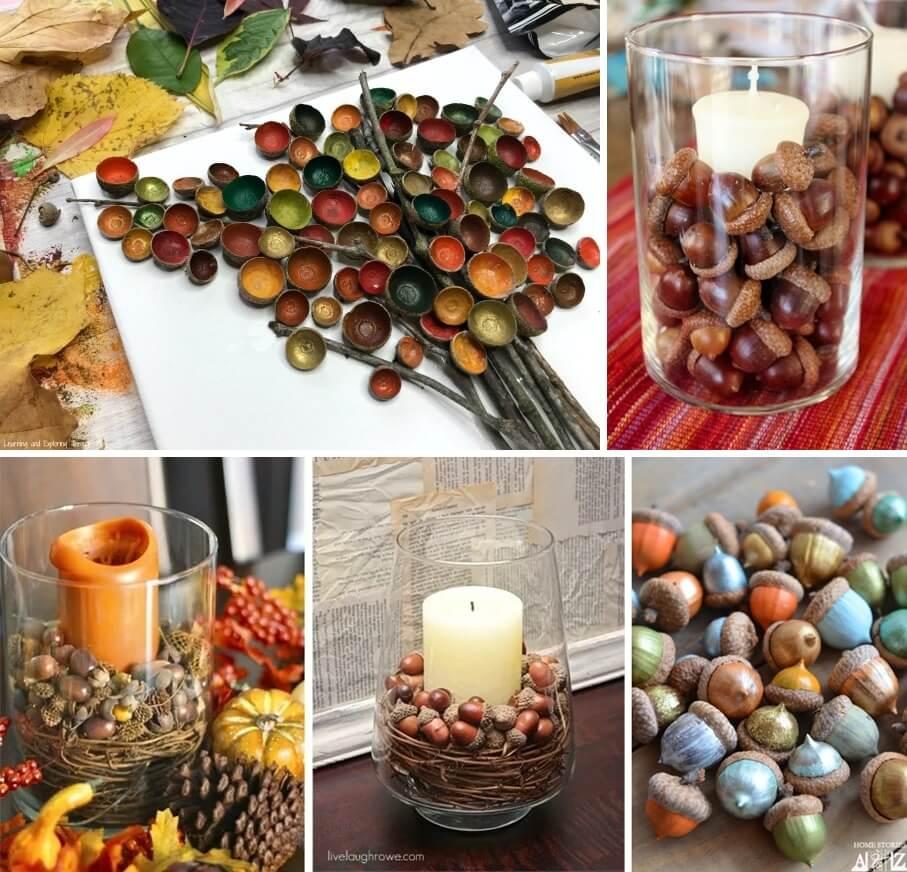 DIY Acorn Crafts and Decor Ideas